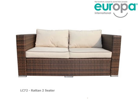 Rattan 2 Seater Sofa