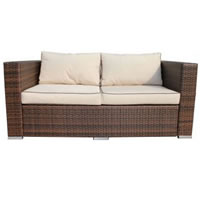 Rattan 2 Seater Sofa hire