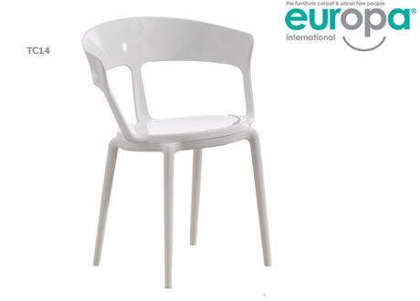 White Rounded Chair